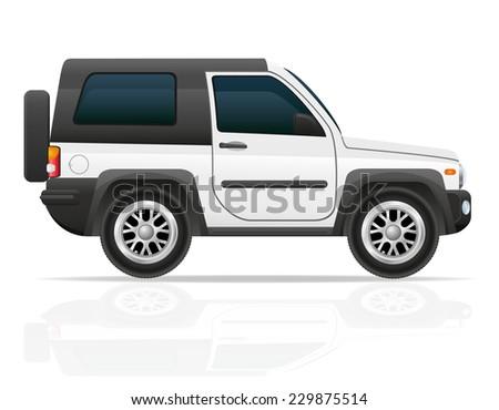 car off road suv vector