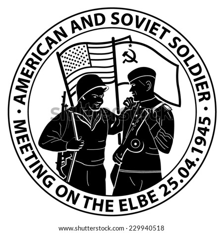 american and soviet soldier coin