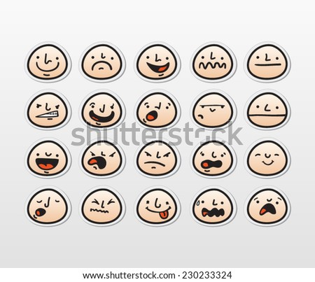funny character heads with