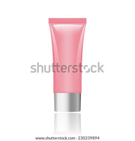 pink tube cream or gel   vector