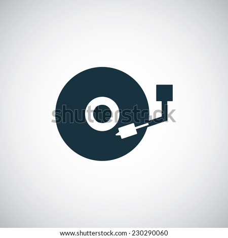 dj icon on white background