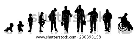vector silhouette of man as