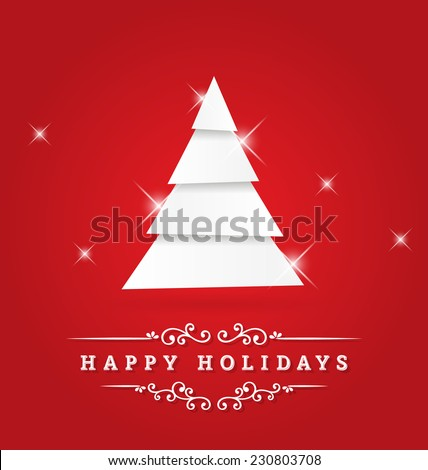 happy holidays vector greeting