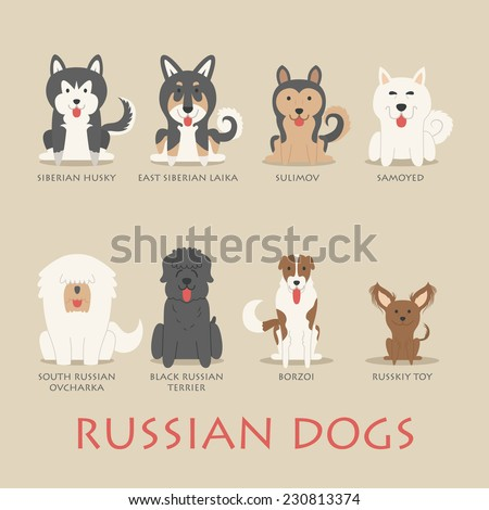 set of russian dogs   eps10