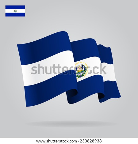 flat and waving salvador flag