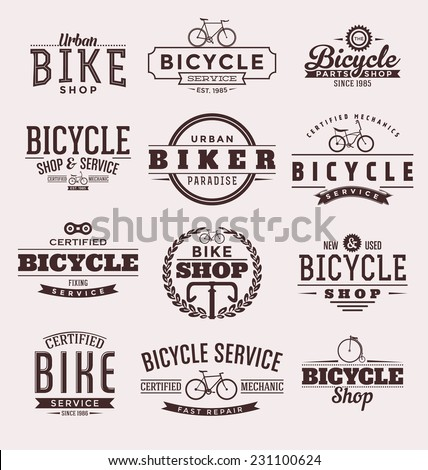 typographic bicycle themed