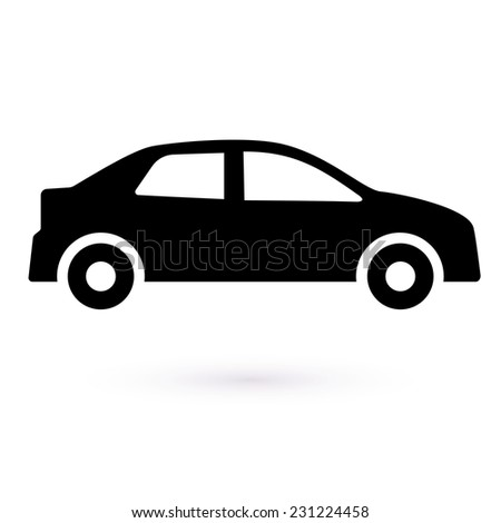 icon black car vector