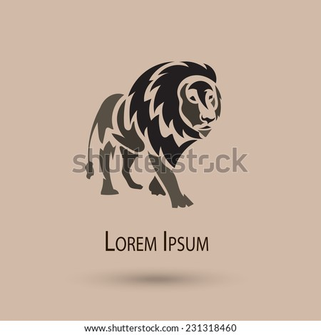 vector stylized lion icon