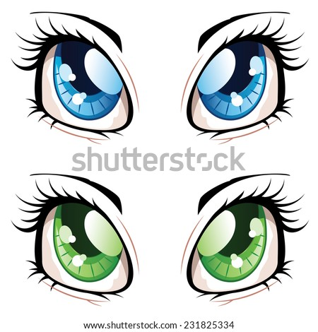 set of manga  anime style eyes