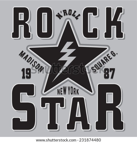 rock and roll music typography