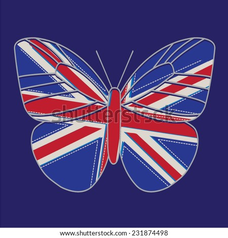england flag butterfly