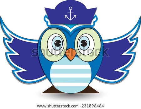 vector illustration cute owl