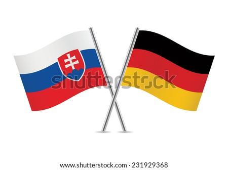 slovakia and germany flags