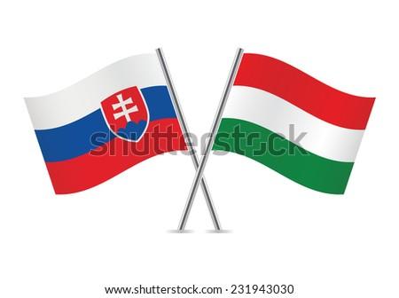 slovakia and hungary flags