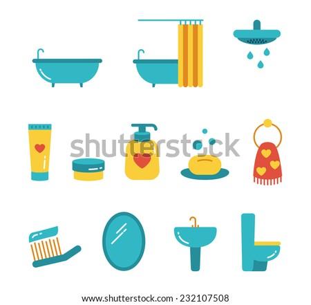 vector bathroom minimalistic