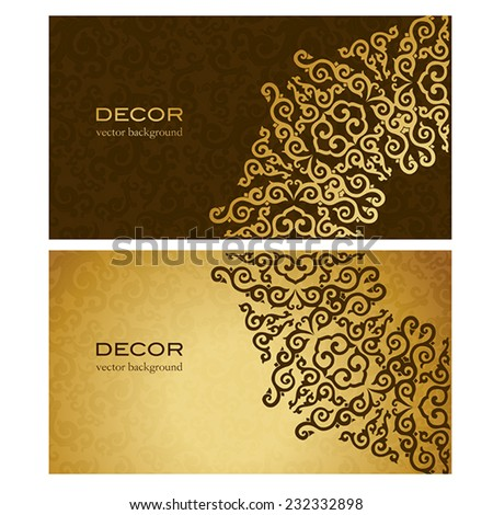business card in oriental style