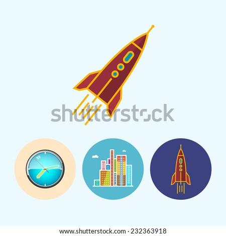 rocket set with 3 round
