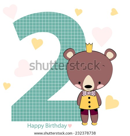 card on happy birthday with