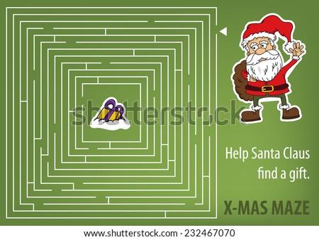 christmas maze   help santa