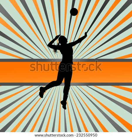 volleyball woman player vector