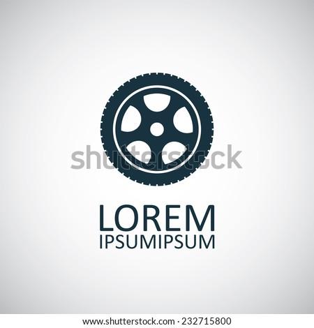 car wheel icon on white