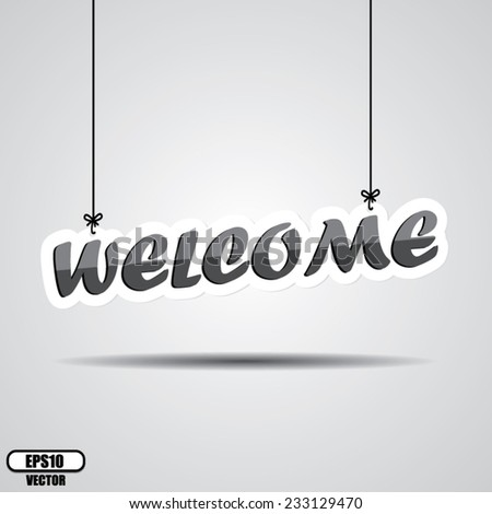 welcome sign hanging isolated
