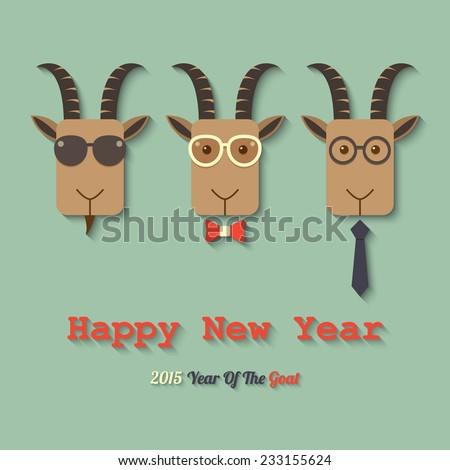 three goats wearing glasses
