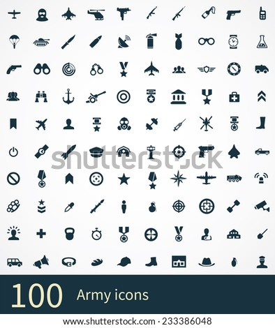 100 army icon on white