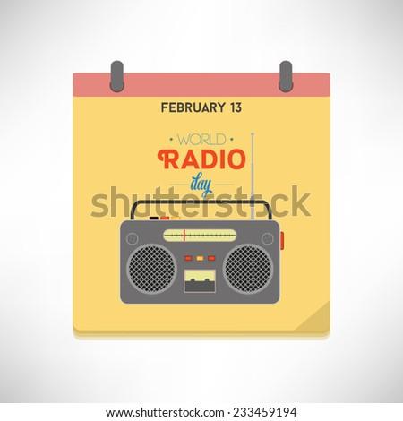 world radio day flat design