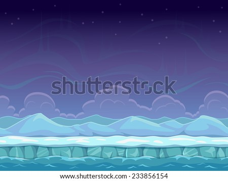 seamless cartoon arctic