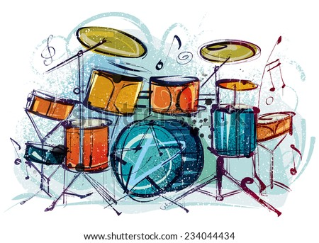 Vector Music Drum Set Free Download 19984 For Commercial Use Format Ai Eps Cdr Svg Illustration Graphic Art Design