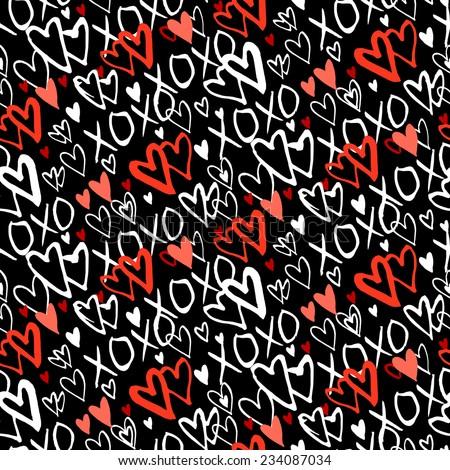 grunge vector seamless pattern