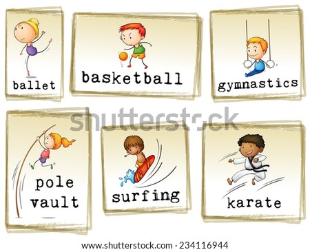 images of athletic kids on a