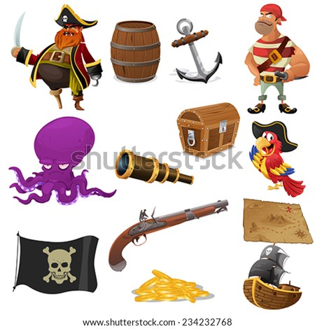 a vector illustration of pirate