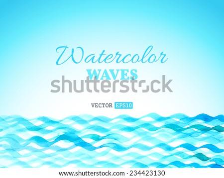 vector watercolor waves