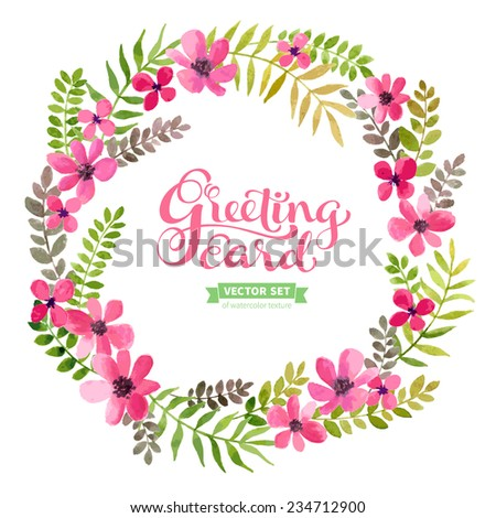 vector flowers frame colorful