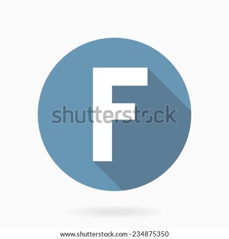 letter f like facebook vector
