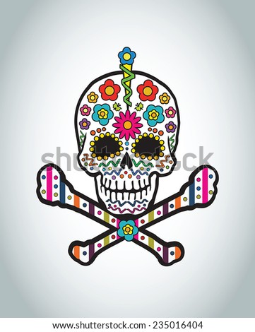 vector design   danger skull