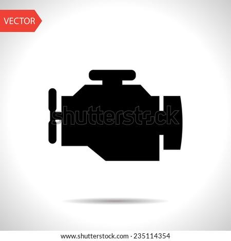 vector flat black icon of