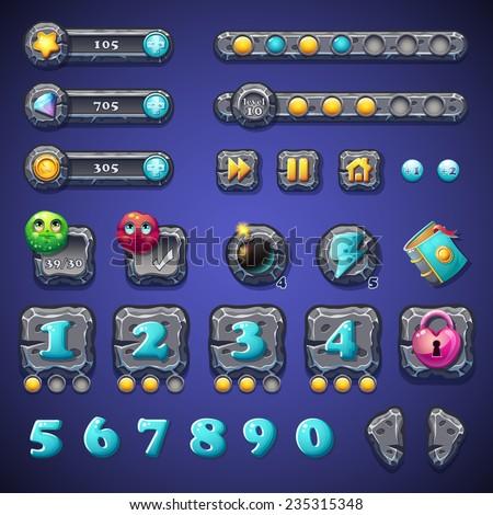 set stone buttons  progress