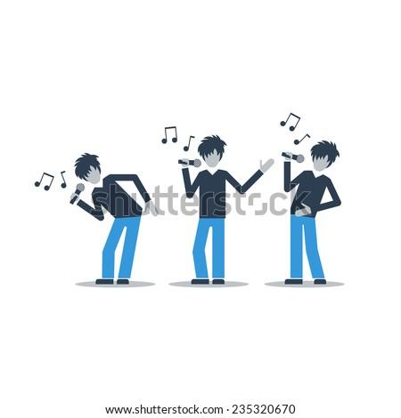 singers  flat design