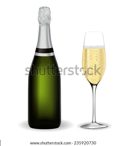 a bottle of champagne and a