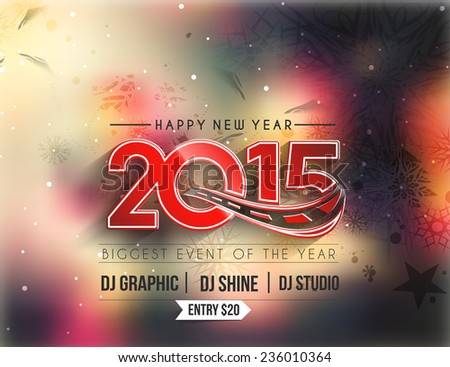new year party flyer   poster