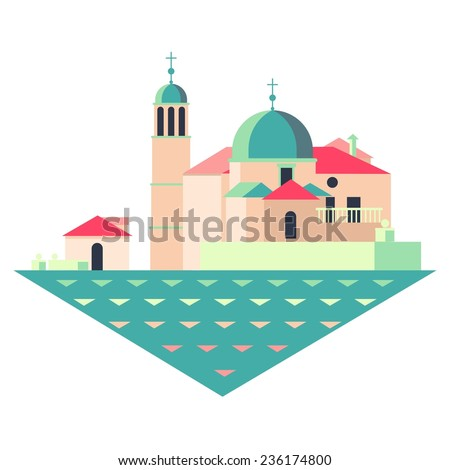 vector travel flat icon with