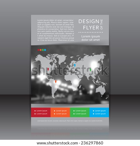 vector design of the flyer whit