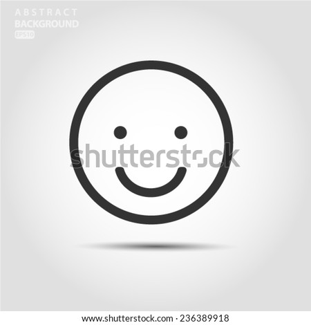 smile outline icon vector eps
