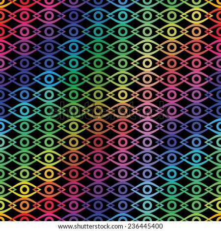 vector seamless pattern with eye