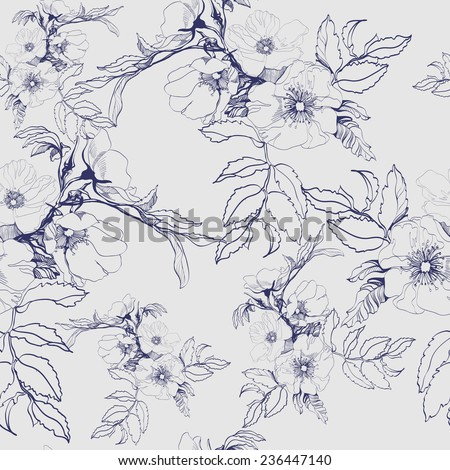 seamless floral pattern with a