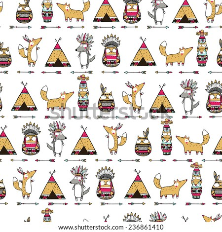 seamless ethnic pattern with