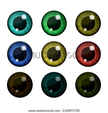 vector eyes collection vector